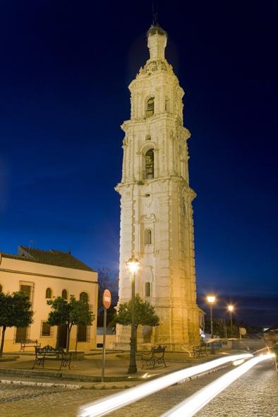 Torre del reloj de noche