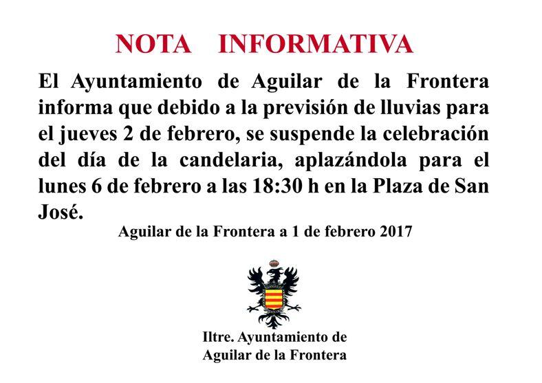 NOTA INFORMATIVA DÍA DE LA CANDELARIA. 1