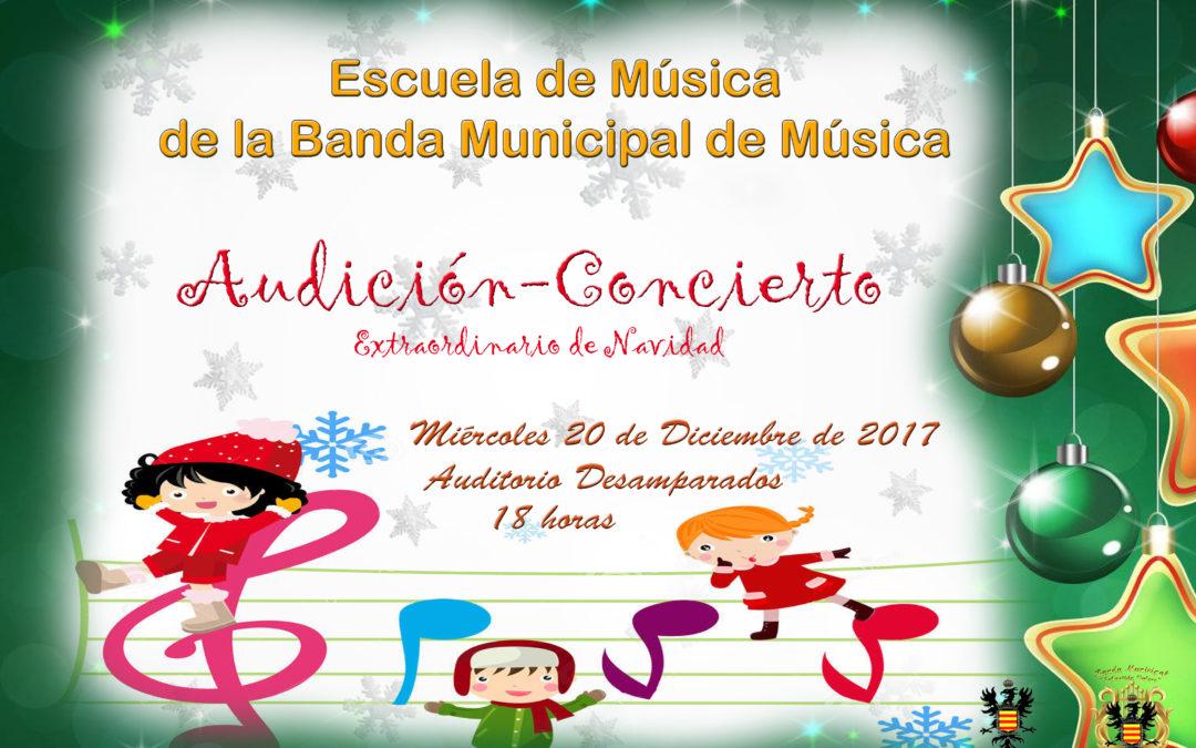 CONCIERTO EXTRAORDINARIO DE NAVIDAD, POR LA ESCUELA DE MÚSICA DE LA BANDA MUNICIPAL DE MÚSICA. 1