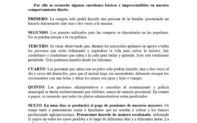 AVISO IMPORTANTE: BANDO ALCALDÍA SOBRE EL COVID-19.