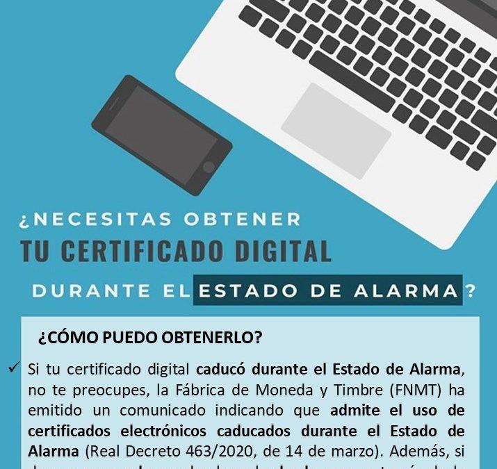 ¿Necesitas obtener tu certificado digital durante el estado de alarma?