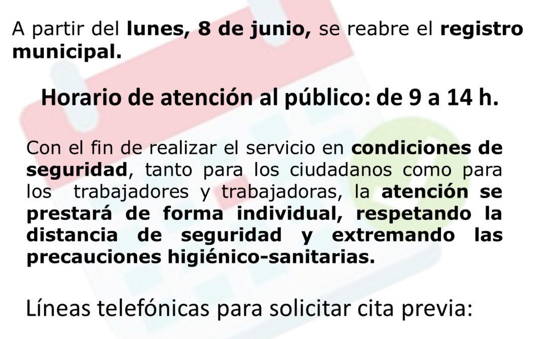 INFORMACIÓN DE INTERÉS: A partir del lunes, 8 de junio, se reanuda la atención ciudadana presencial en el Ayuntamiento de Aguilar de la Frontera