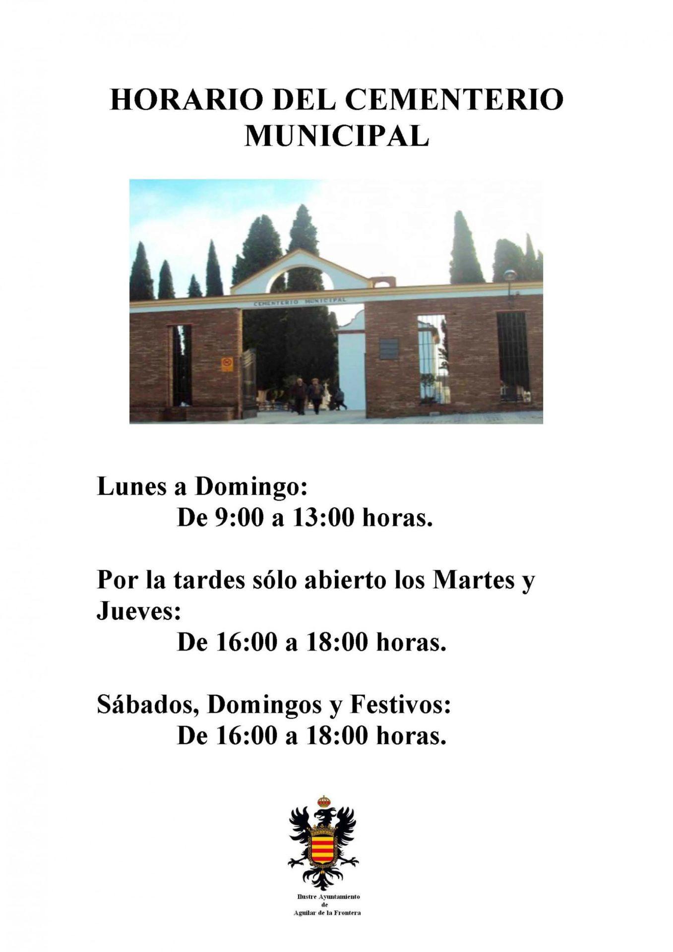 HORARIO DEL CEMENTERIO MUNICIPAL 1