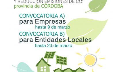 CONVOCATORIA DE SUBVENCIONES PARA PROYECTOS DE AHORRO, EFICIENCIA ENERGÉTICA, FOMENTO DE LAS ENERGÍAS RENOVABLES Y REDUCCIÓN DE EMISIONES DE CO2